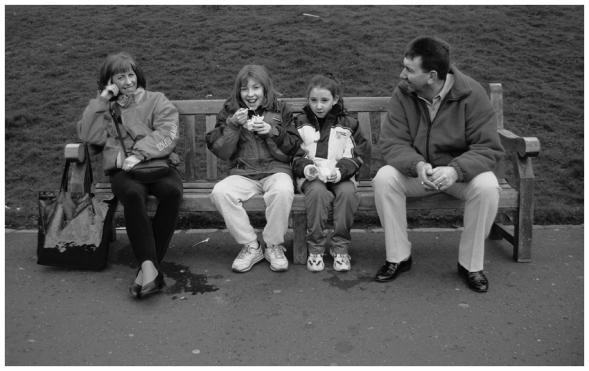 Edimburgo. Abril 1999. Princes Street Gardens.
