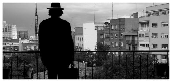 En mi terraza. Madrid 2008
